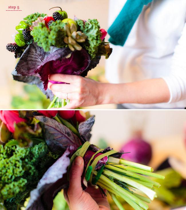 Как сделать букет из овощей своими руками 40