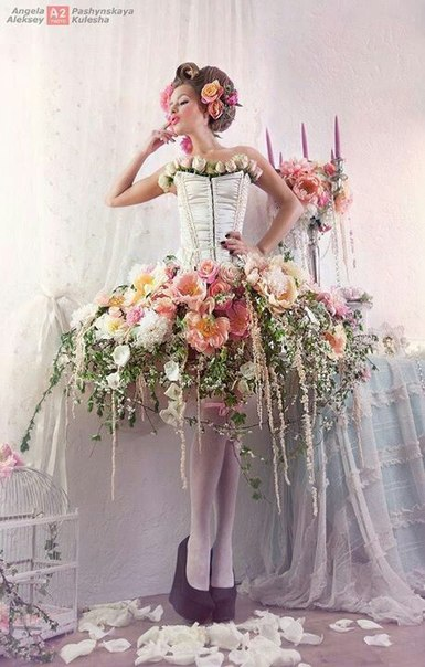 Идеи для платья из цветка