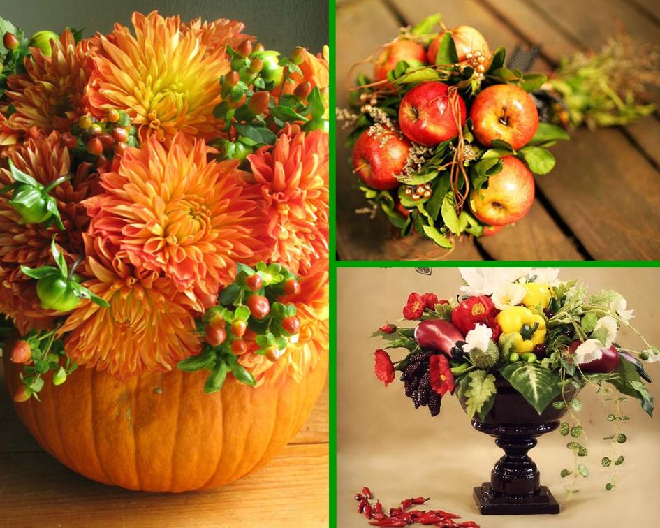 Композиции с цветами и фруктами 25