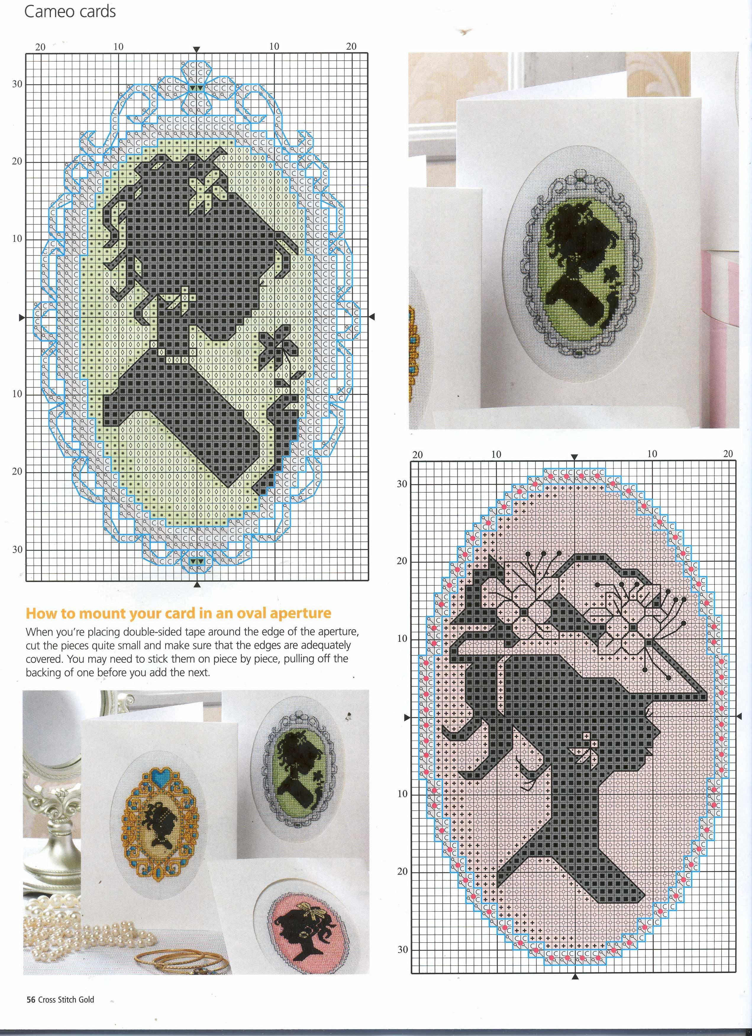 Схема вышивки для камеи