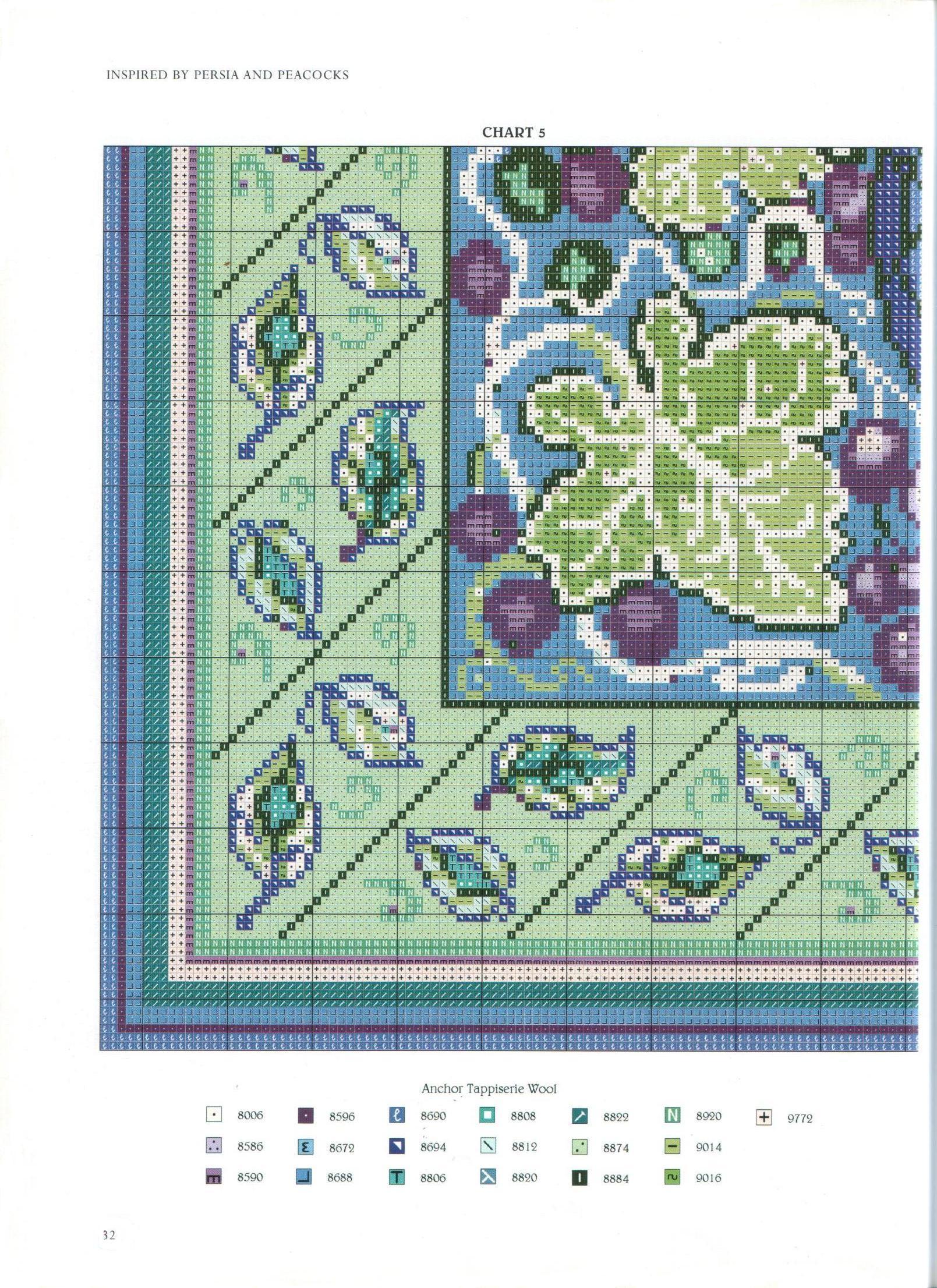 Вышивка схемы ковры крестиком