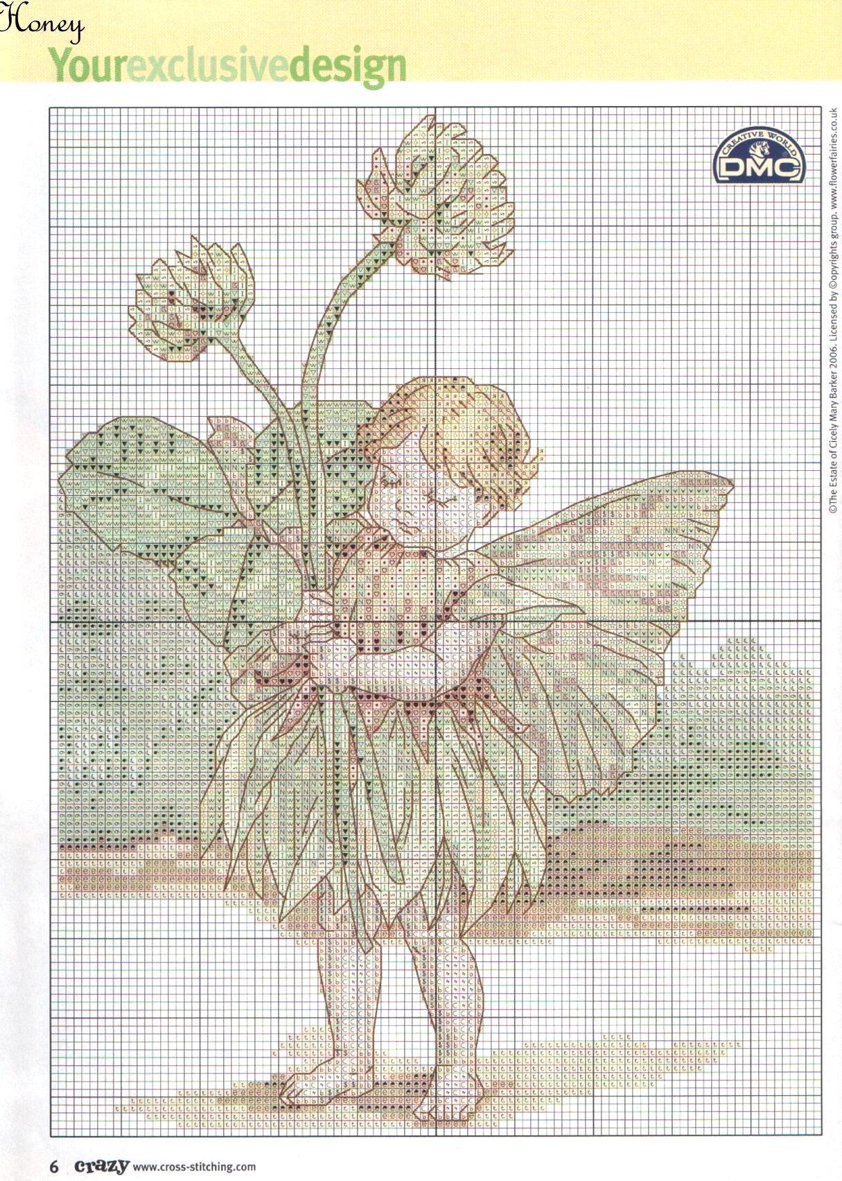 Схема для вышивки феи сада