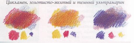 Как сделать фиолетовый цвет из карандаша